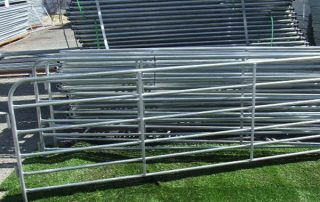 galvanized steel cattle fence